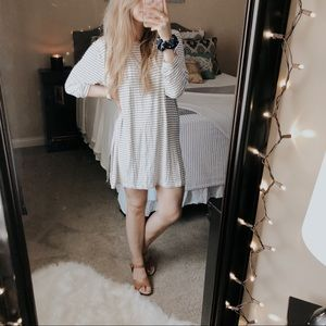 Old Navy Luxe Striped Side Slit Tunic Dress